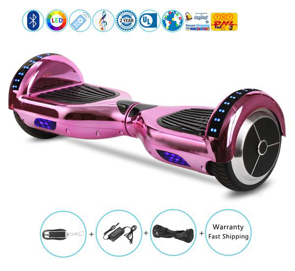 Chrome 2 Wheel Balancing Scooter with Bluetooth Speaker on Sale