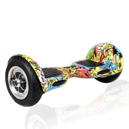 10 GRAFFITI CARBON FIBER Hoverboard - Smart Balance Wheel (GREEN)