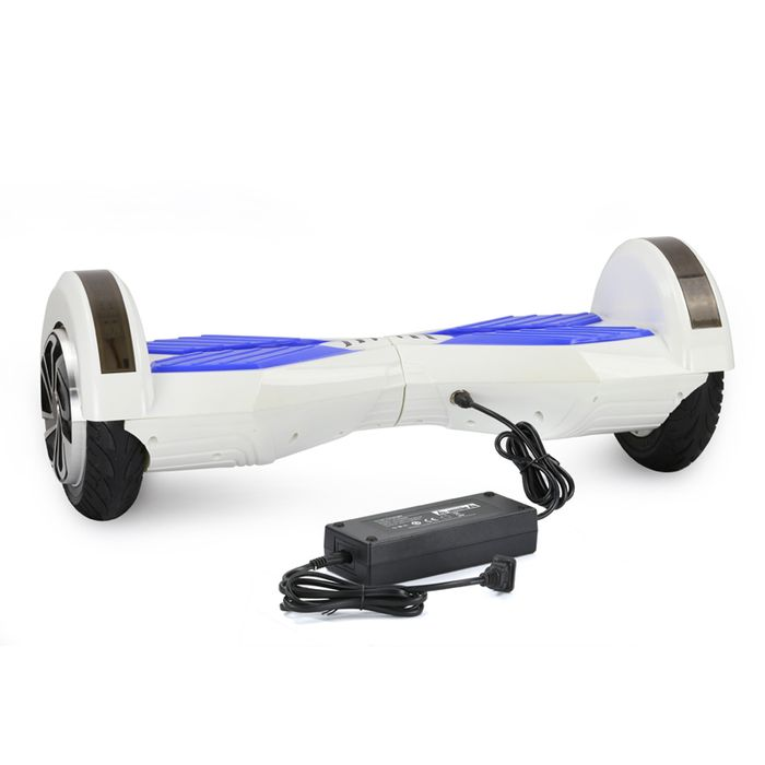 8 Lamborghini Hoverboard With Bluetooth - Smart Balance Wheel (WHITE BLUE)