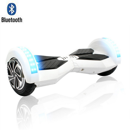 8 Lamborghini Hoverboard With Bluetooth - Smart Balance Wheel (WHITE)