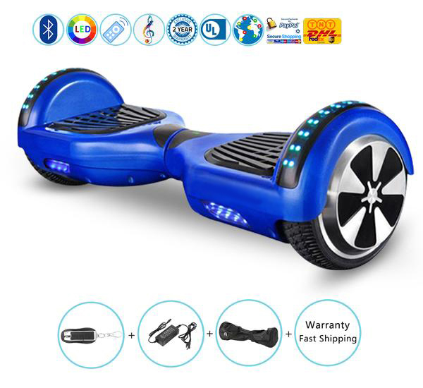 "6.5"" Selfbalance scooter with Bluetooth Speakers and Led Lights Blue"