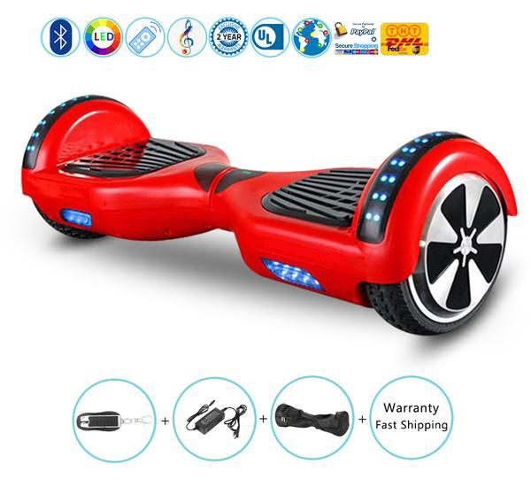 6.5 Inch Hoverboard with Bluetooth Speakers,Bluetooth Key and Led Lights