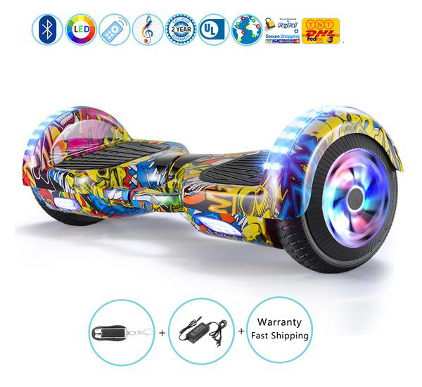 6.5 Inch Hoverboard with Bluetooth Lights, 2017 Hottest Self Balancing Scooter for Christmas Gift