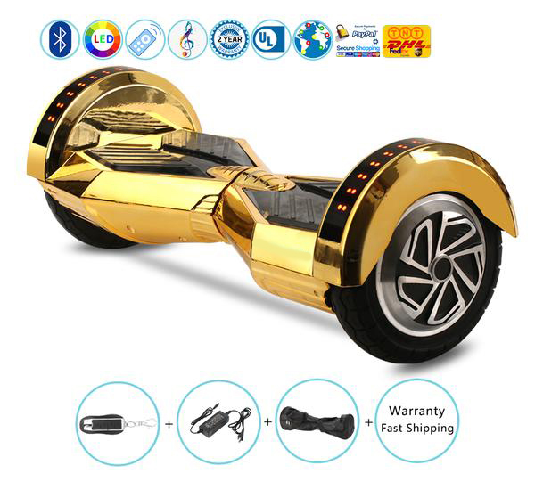 8 Inch Lambo Performance Electric Hoverboard with Samsung Battery+Bluetooth Speakers+Lights+Remote