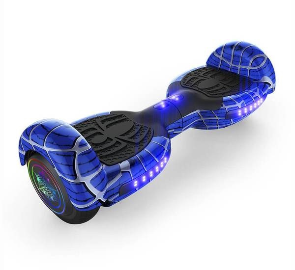"6.5"" SPIDER HOVERBOARD WITH LED LIGHT WHEEL,BLUETOOTH SPEAKERS AND UL-2272 CERTIFIED (Blue)"