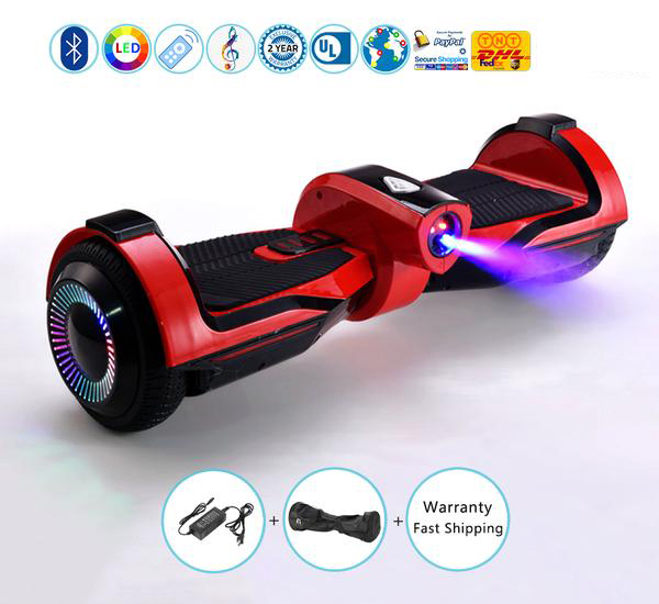 LED Jet Flame Hoverboard with 6.5 Inch Flashing LED Light Wheels, The Most Popular Hoverboard in 2018