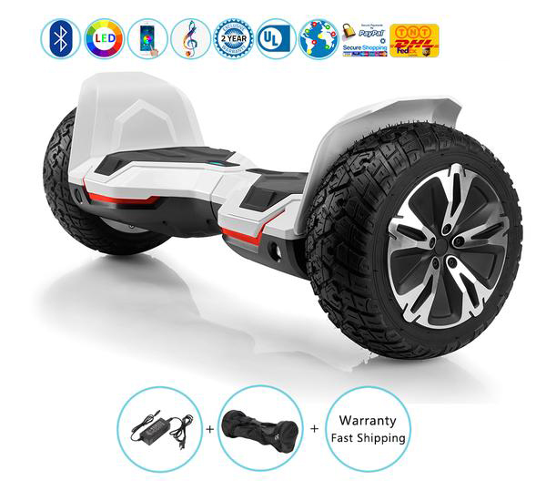 Warrior Self Balancing Hoverboard for Kids with Bluetooth Speakers + Led Lights