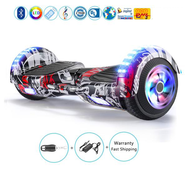 Bluetooth Hoverboard with LED Lights, Chrome Hoverboard for Kids in 2017 Christmas