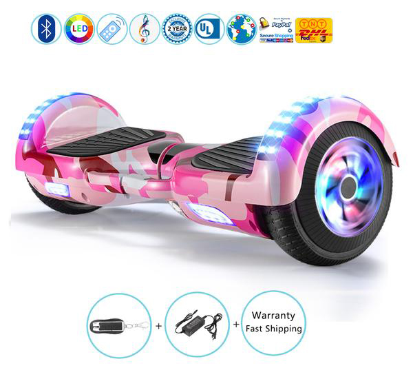 Kids Hoverboard Electric Scooter with Bluetooth Speakers, Led Lights and Remote
