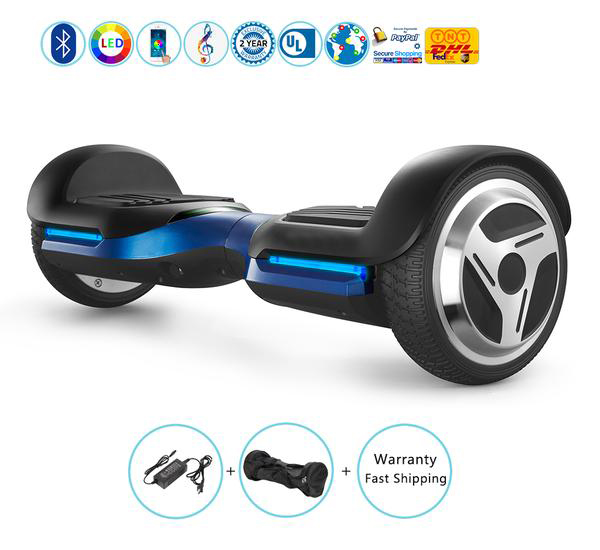 6.5 Inch New Hoverboard with Bluetooth Speakers + Led Lights + App��Blue)